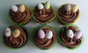 Paas cupcakes (chocolade)