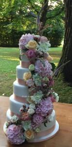 'Peach' Wedding cake