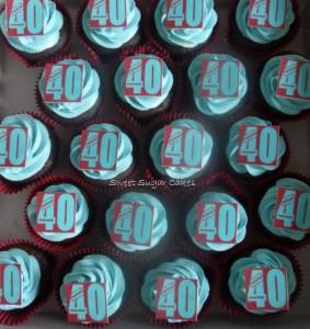 40 jaar! (chocolade cupcake met witte chocolade toef)